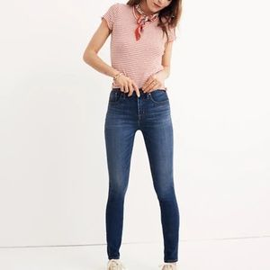 """Madewell - 10"""" High-Rise Skinny Jeans - Danny Wash"""
